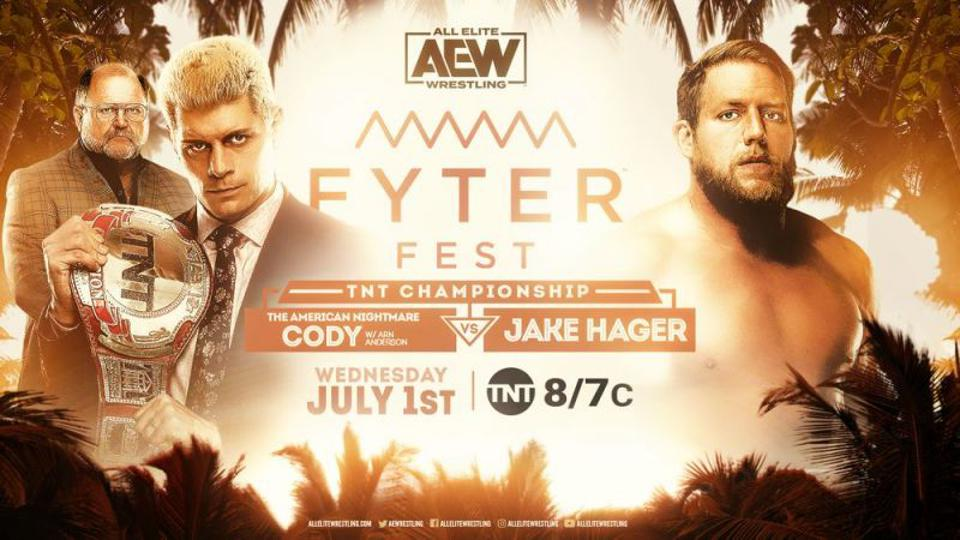 Cody retained the TNT Championship at AEW Fyter Fest, Night 1.