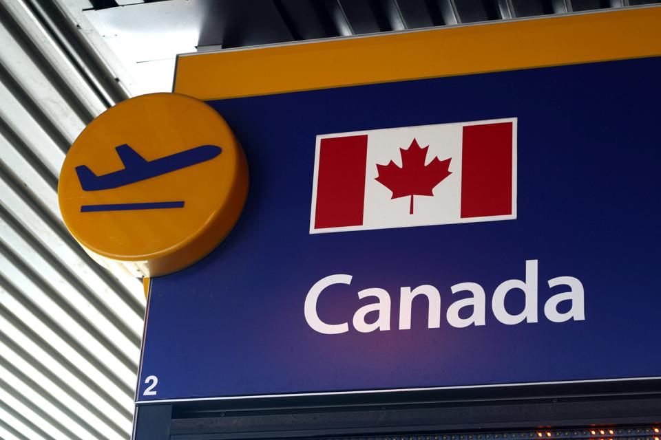 Airport Departure Sign Canada