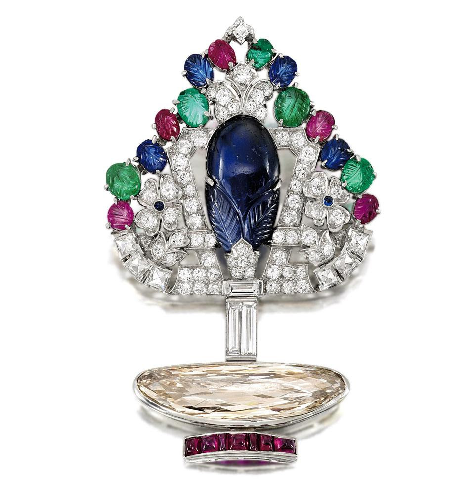 Cartier Tutti Frutti brooch with an estimate of $155,000 – $207,000