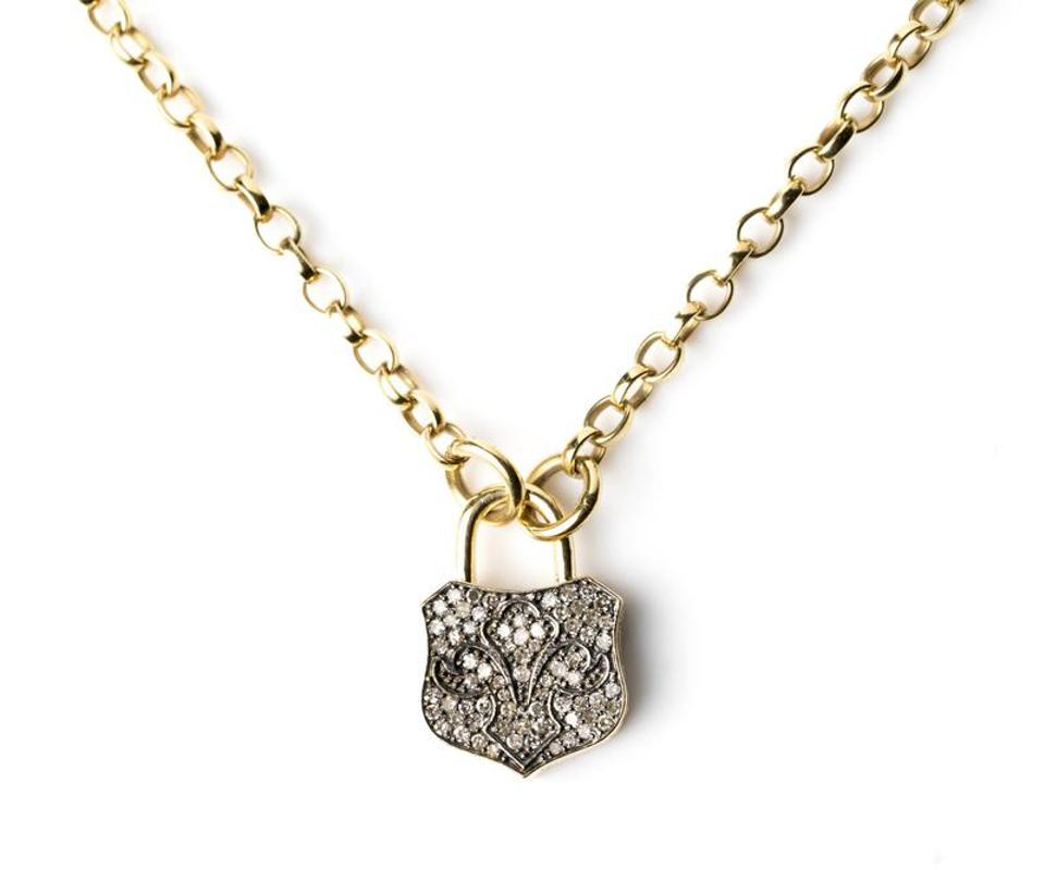Chunky Lock Necklace by Kirstie Le Marque: