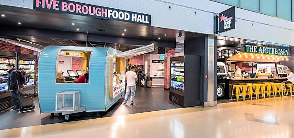 Five Borough Food Hall at John F. Kennedy International Airport's Terminal 4