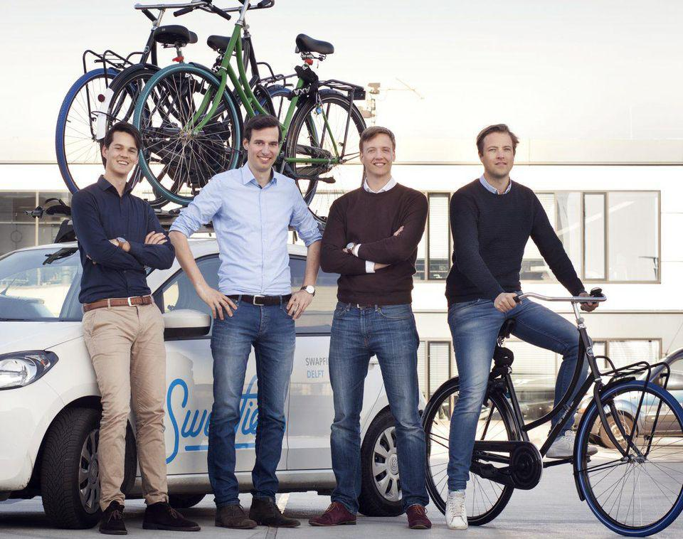 The co-founders of Swapfiets
