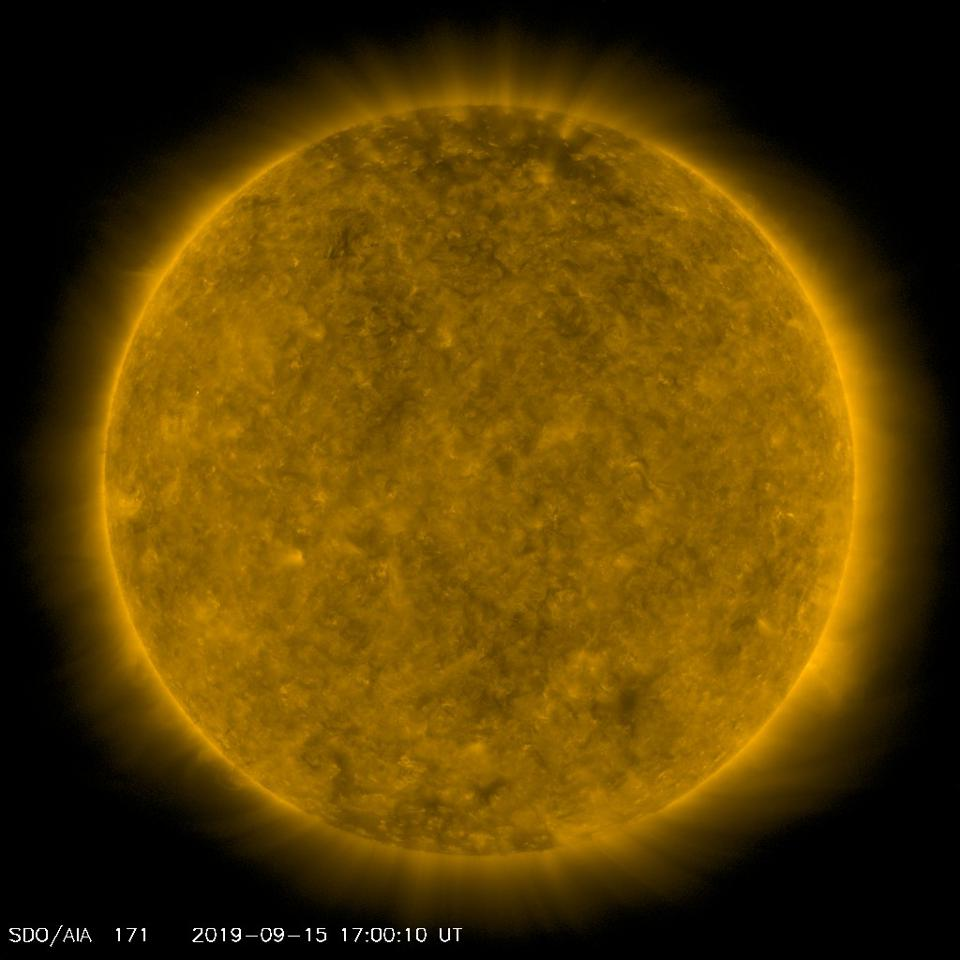 The Sun as it is now—at solar minimum (or thereabouts).