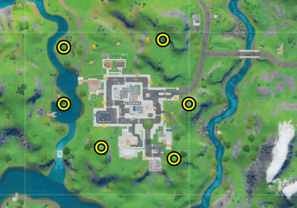 Captain America Fireworks locations Fortnite