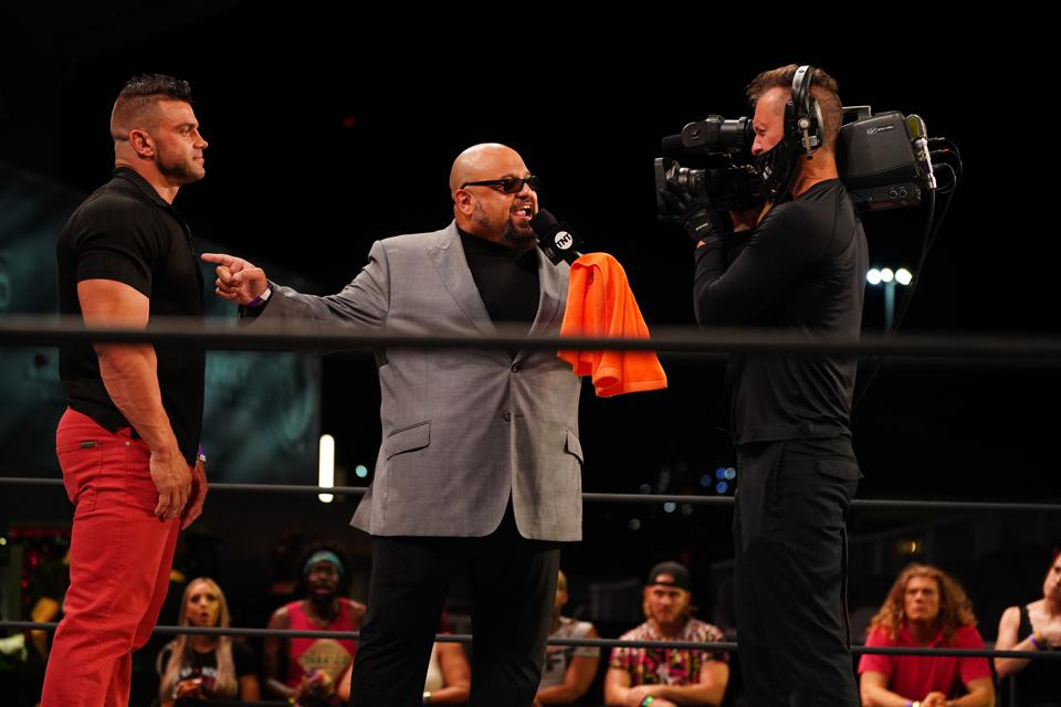 Taz appeared to diss WWE for its handling of COVID-19 in promo on AEW TV.