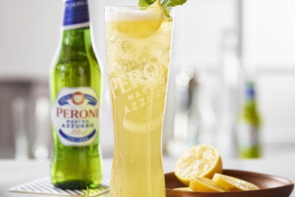 A Peroni Limone cocktail