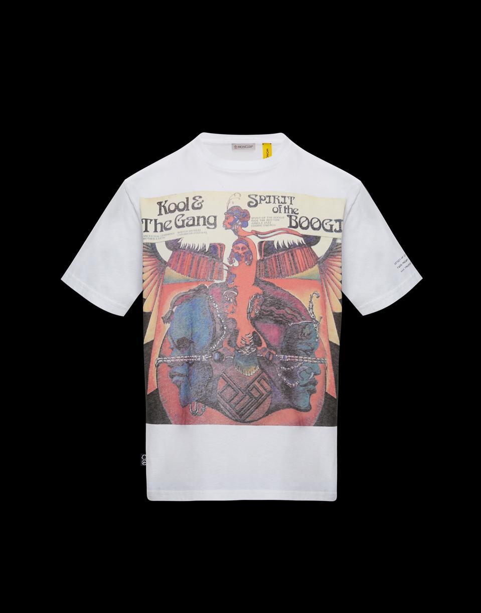 7 MONCLER FRAGMENT Hiroshi Fujiwara Kool & the Gang collaboration T-shirt.