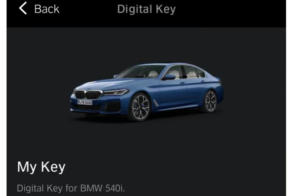 A BMW that's compatible with the iPhone Virtual Car Key feature
