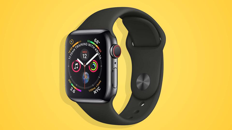 An image of the front of the Apple Watch Series 4.