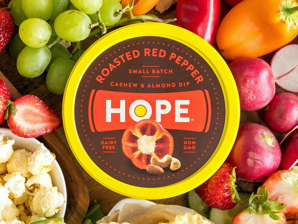 Hope Foods Dips Cashew Almond Dairy Free French onion nuts