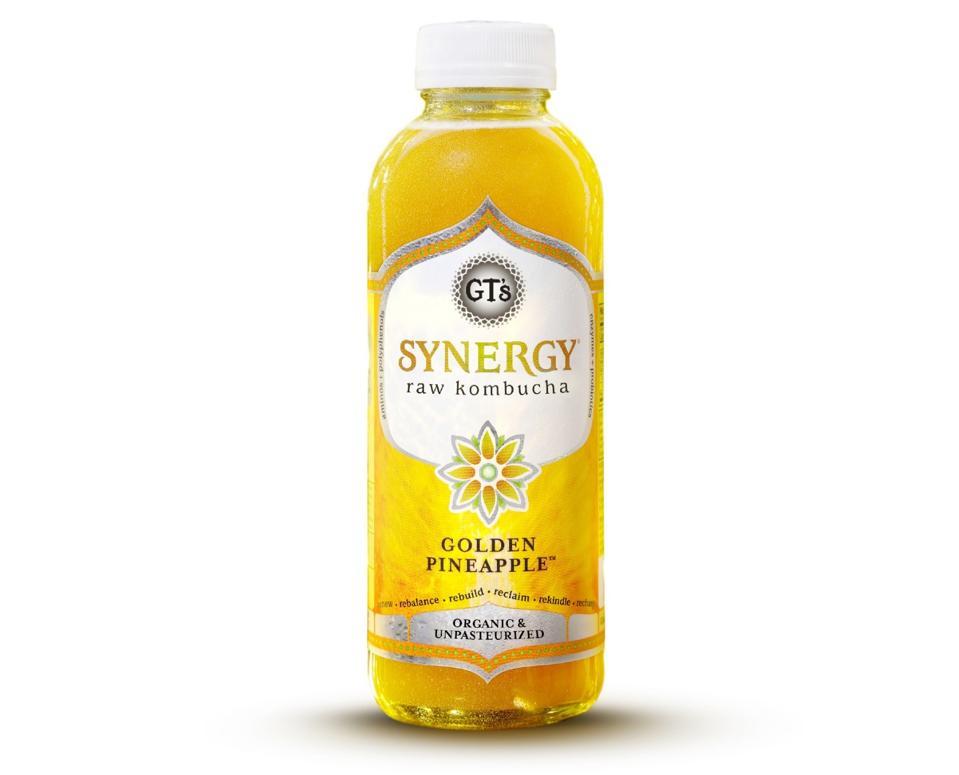 GT's Living Foods raw synergy Kombucha Golden Pineapple