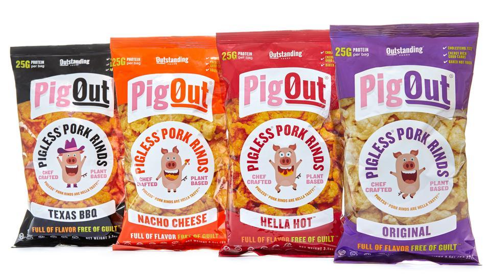 PigOut Pigless Pork Rinds vegan protein chips snacks