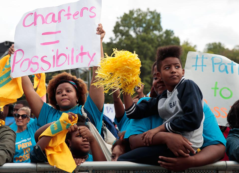 Education Activists Hold Charter School Rally In Brooklyn