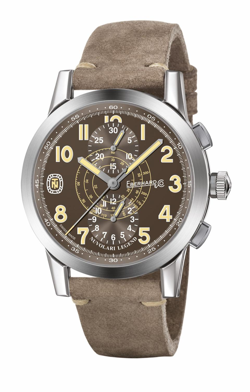 The Eberhard Nuvolari Legend is one of the latest chronographs by Eberhard