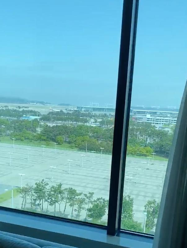 view from window of airport