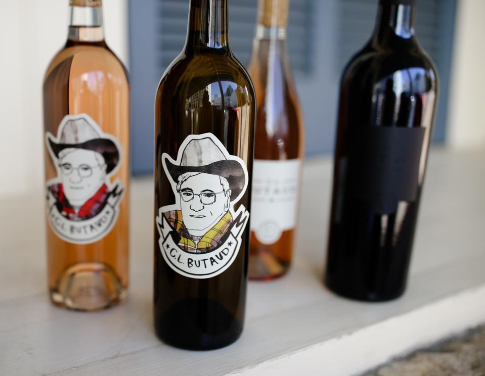 C.L. Butaud wine bottles