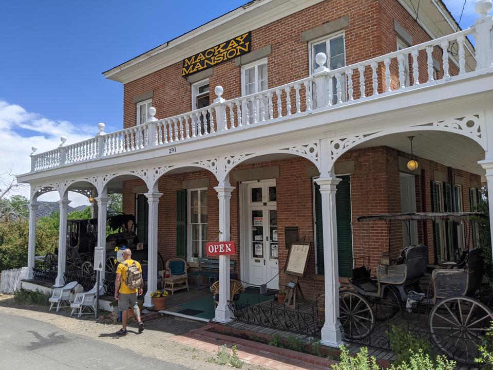 The Mackay Mansion in Virginia City, Nev.