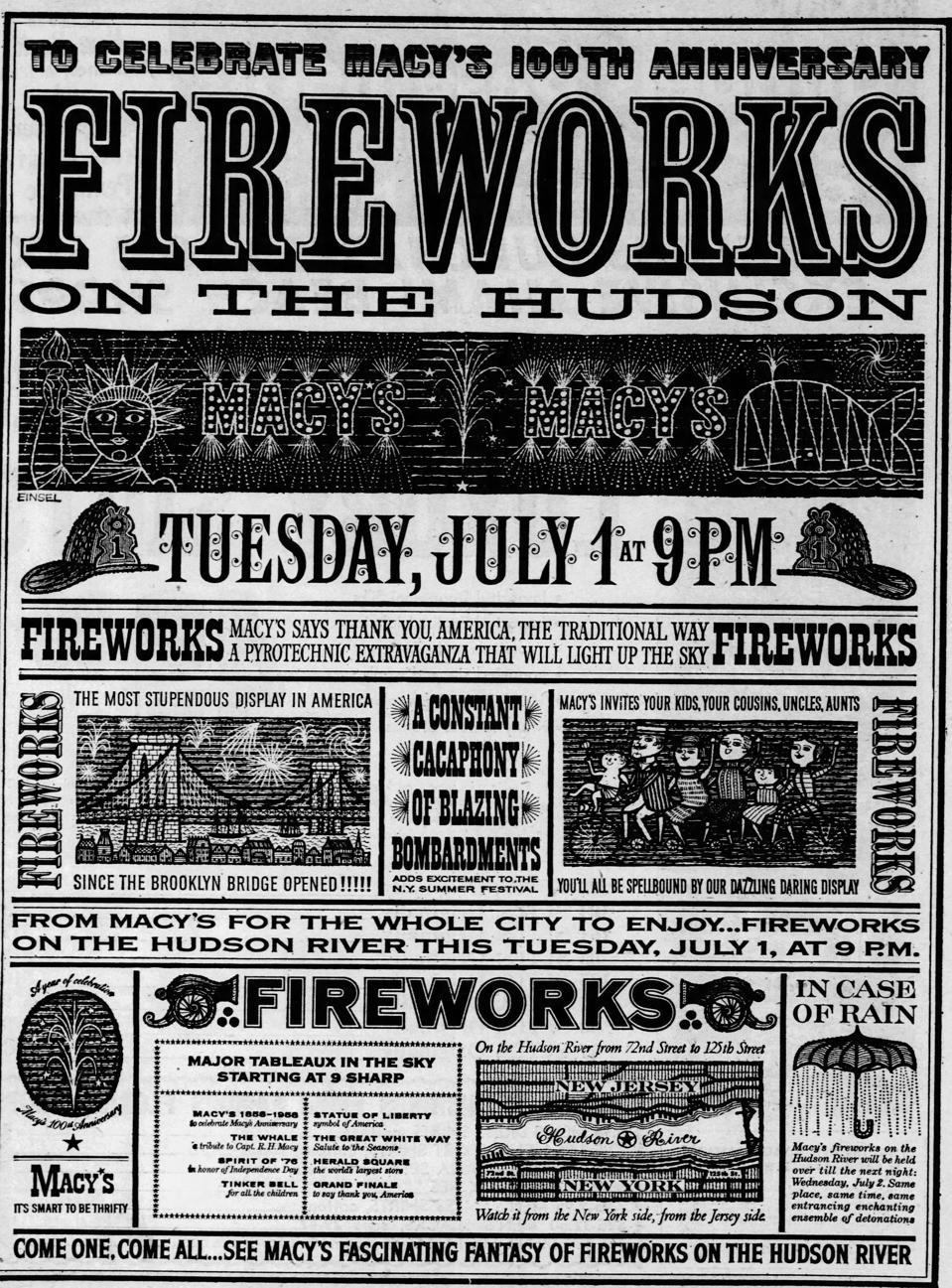 Macy's Fireworks 1958
