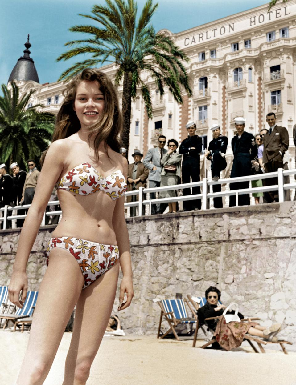 french actress brigitte bardot in bikini in cannes