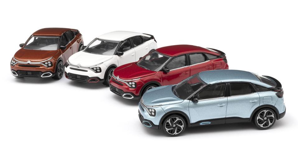 Citroen diecast model lineup.