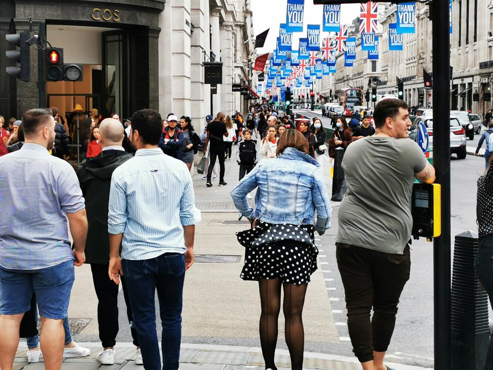 Regent Street In London was full of shoppers today