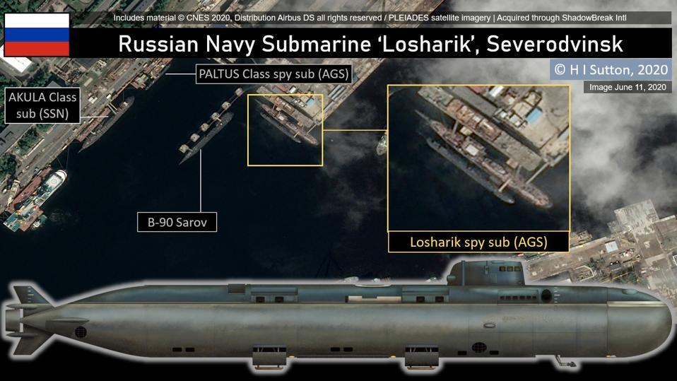 Russian Navy Pr. 10831 Submarine Losharik (AS-12) in Severodvinsk