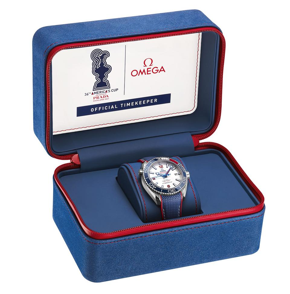 The Omega Seamaster Planet Ocean 36th America's Cup Limited Edition with special packaging