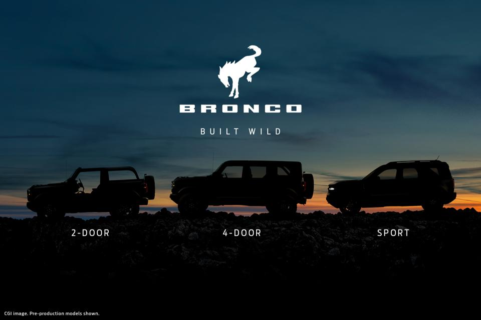The 2021 Ford Bronco family