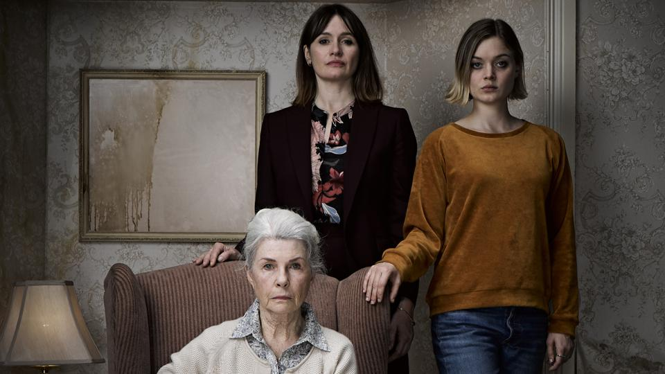 """Robyn Nevin as """"Edna,"""" Emily Mortimer as """"Kay,"""" and Bella Heathcote as """"Sam"""" in Natalie Erika James' RELIC."""