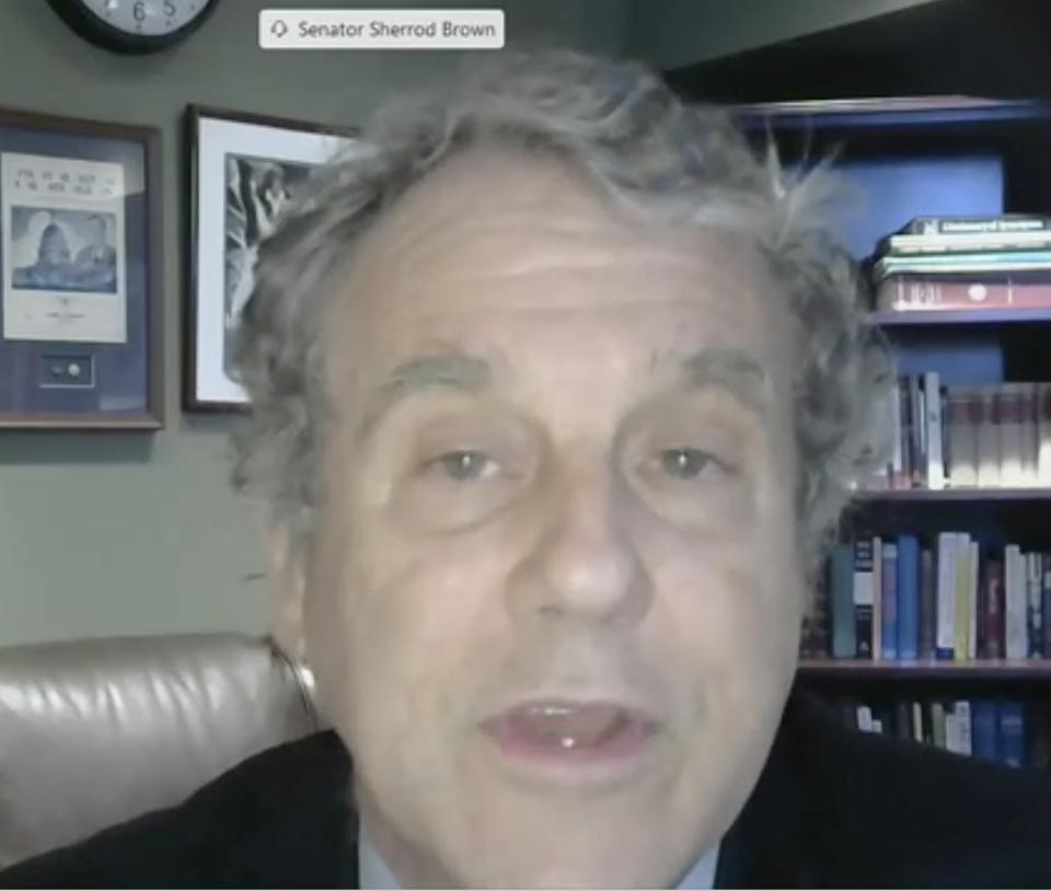Senator Sherrod Brown (D-OH), Ranking Member of the Senate Banking Committee speaking during the Virtual Hearing on Digitization of Money and Payments.