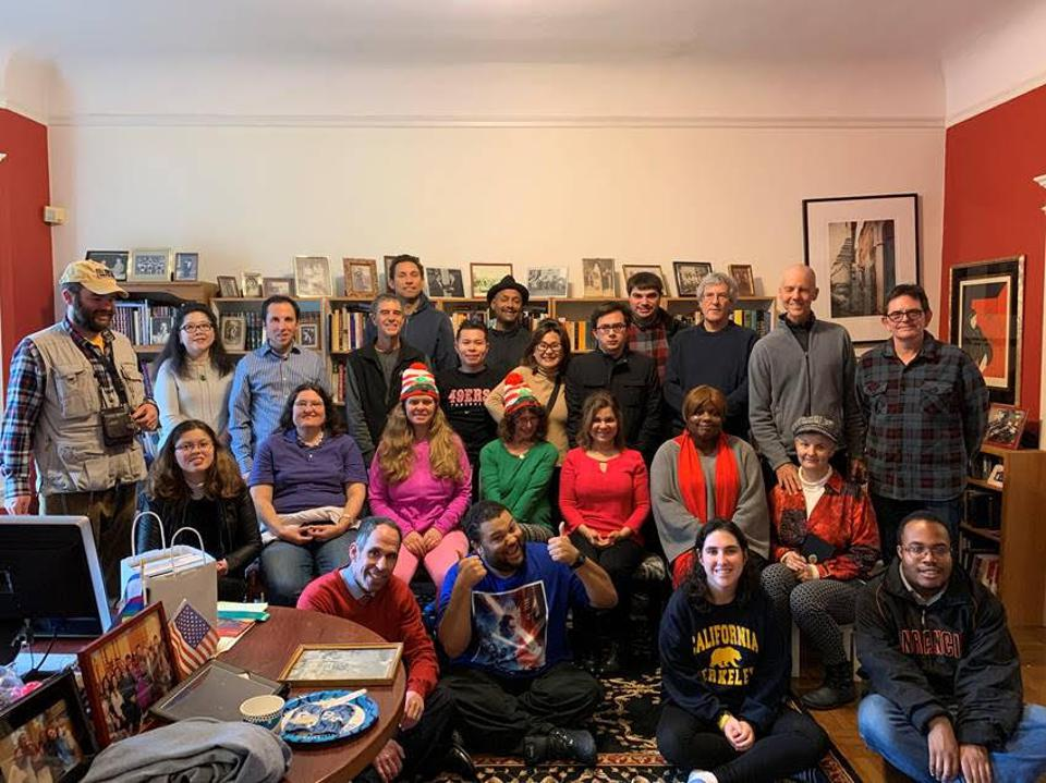 Group photo at the Autism Job Club holiday party.