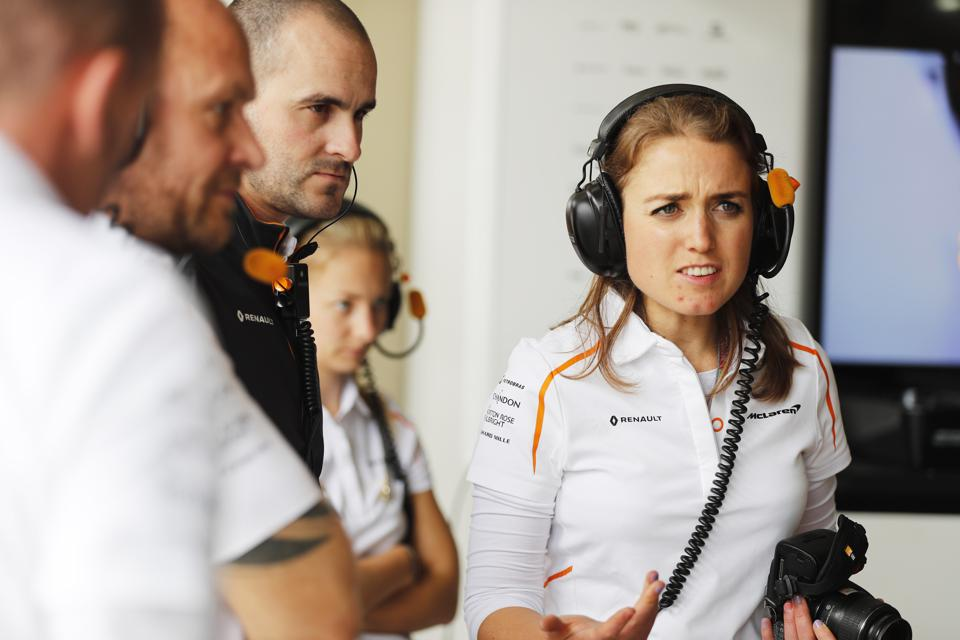 Materials Engineer Matilda McAleenan has helped to drive McLaren back up the standings