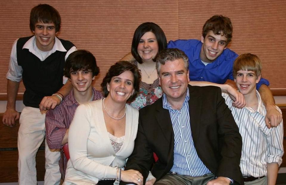 Jennifer Horn and her family.