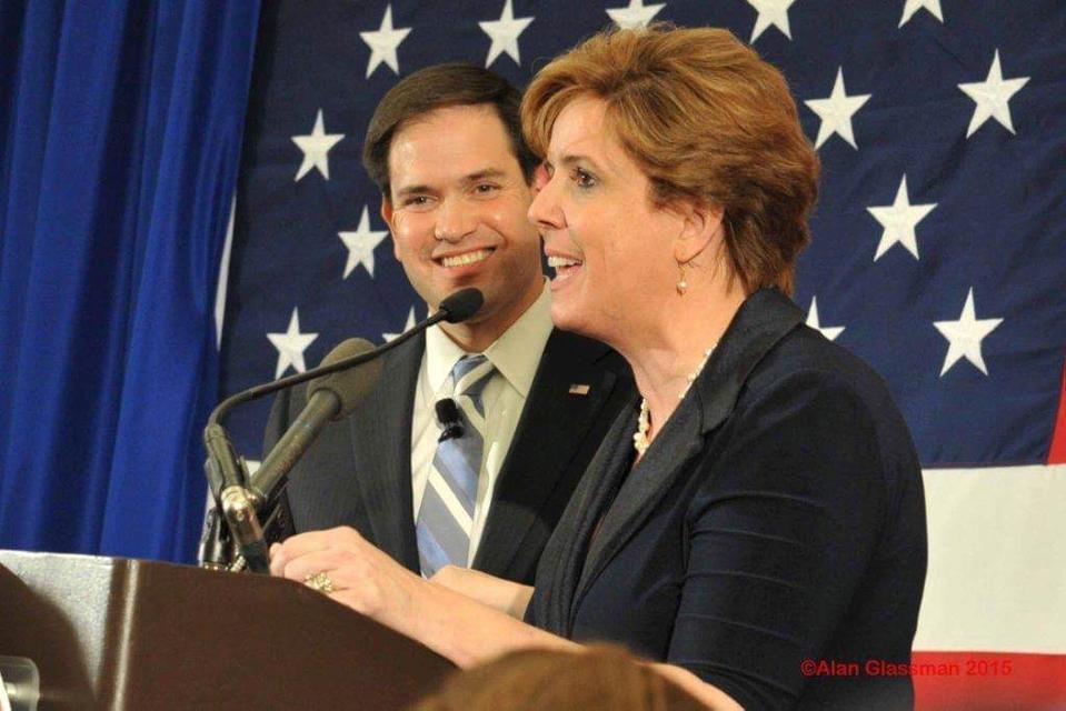 Jennifer Horn and Senator Marco Rubio.