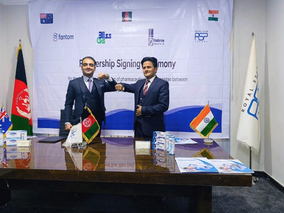 Fantom signing a partnership agreement