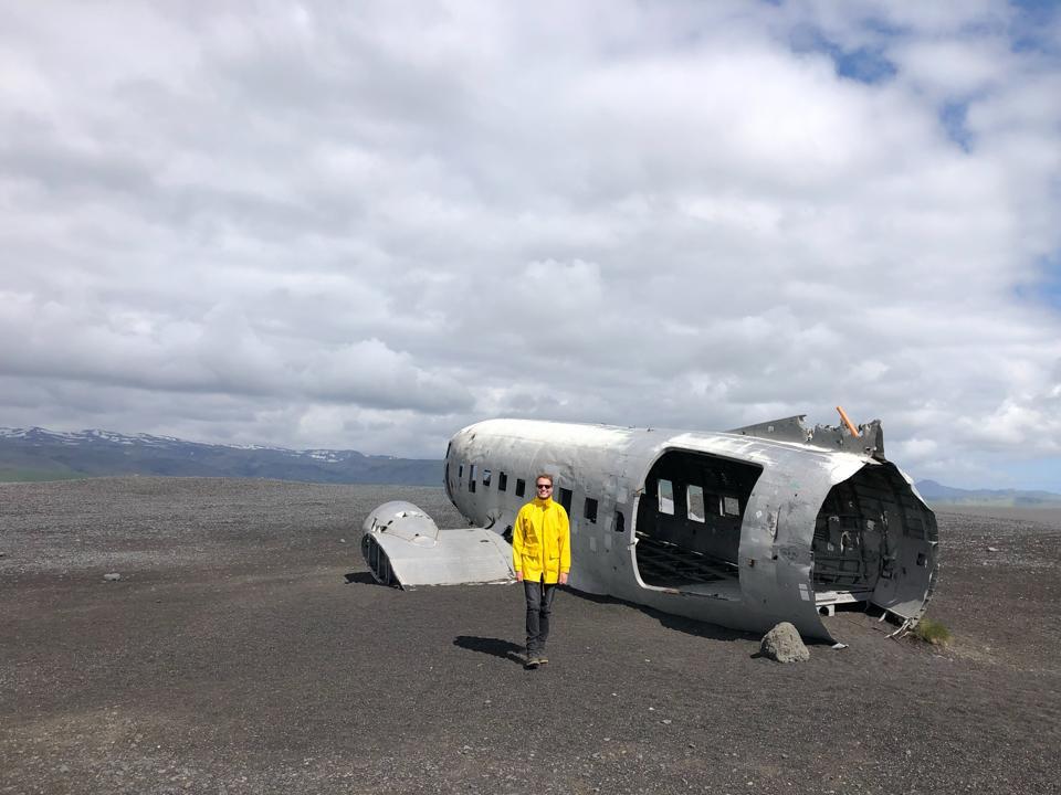 coronavirus COVID-19 aircraft wreck Iceland tourist attraction summer travel