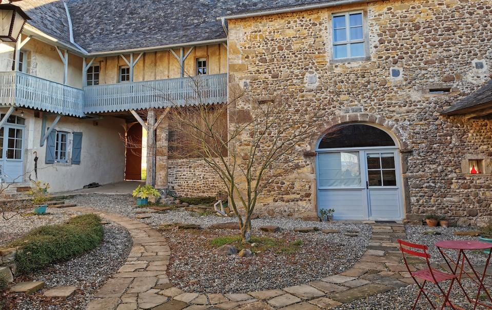 The Maison D'Orride Courtyard in the Béarn region.