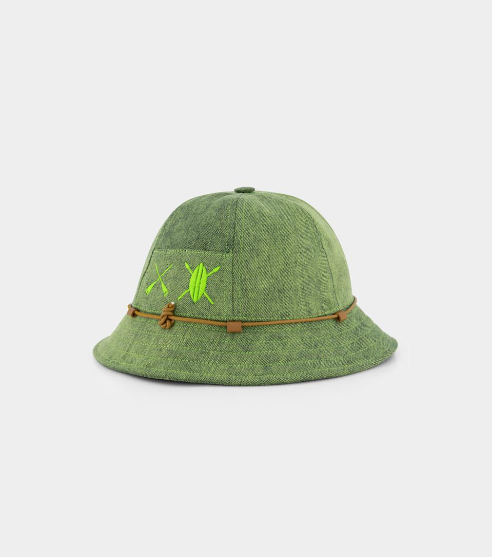 A Bucket hat is easy and versatile for the summer time