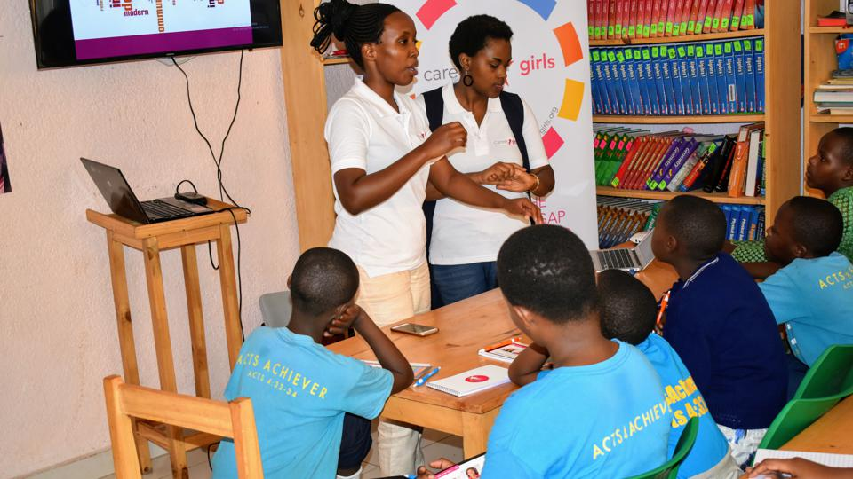 Rwanda's Starlight conducting a STEM workshop for school students in Kigali, Rwanda.