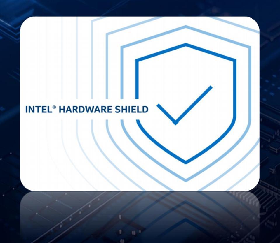 Intel 10th Gen vPro processors include Intel Hardware shield.