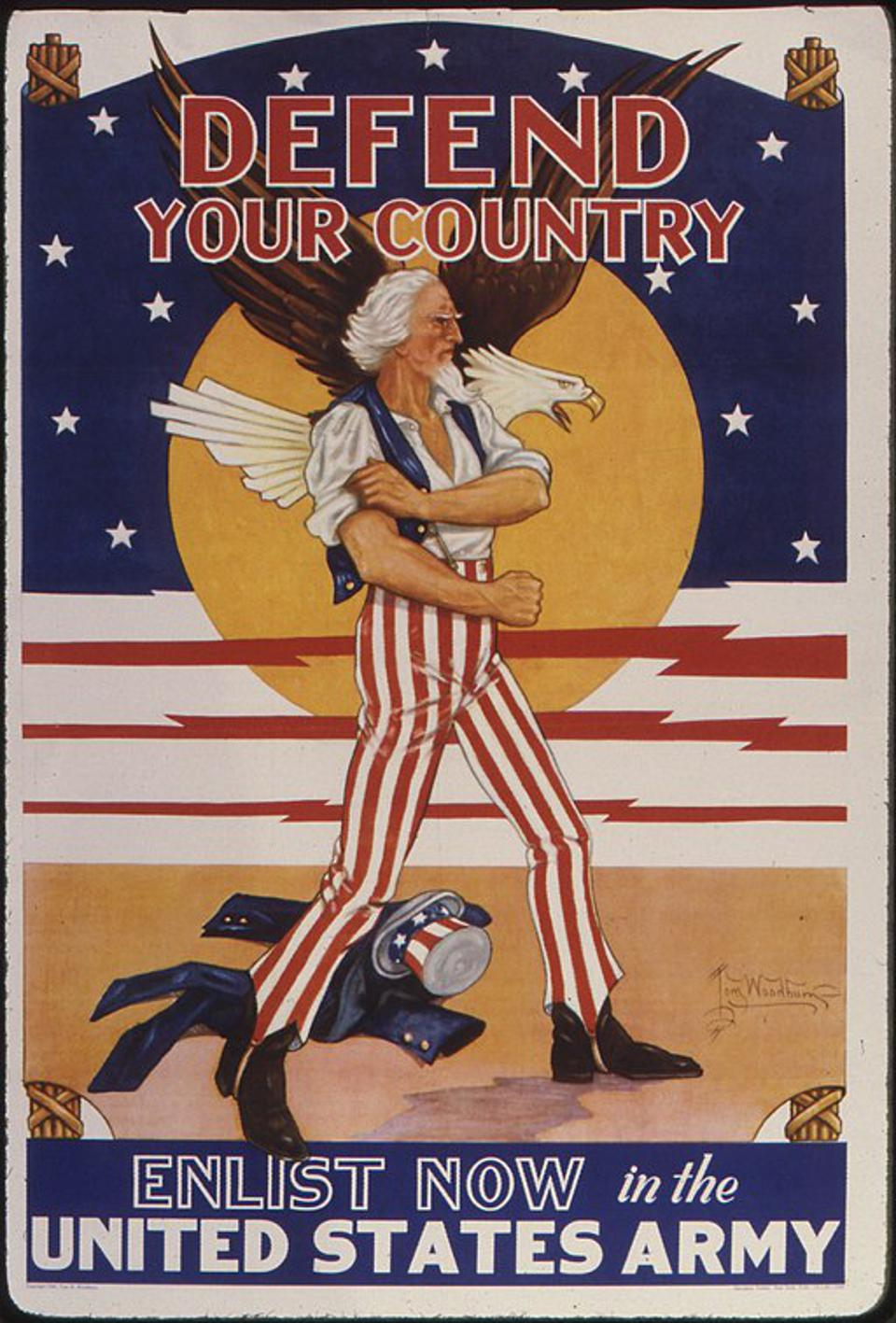 World War II recruitment posters from the United StatesUnited States ArmyUncle Sam in propagandaEagles in art