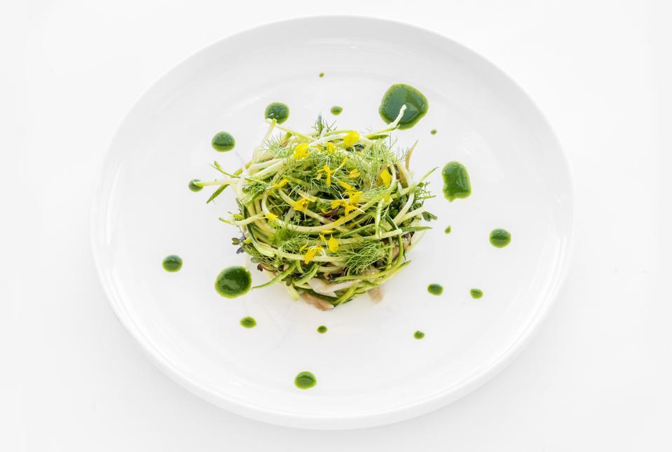 Courgette and shellfish salad