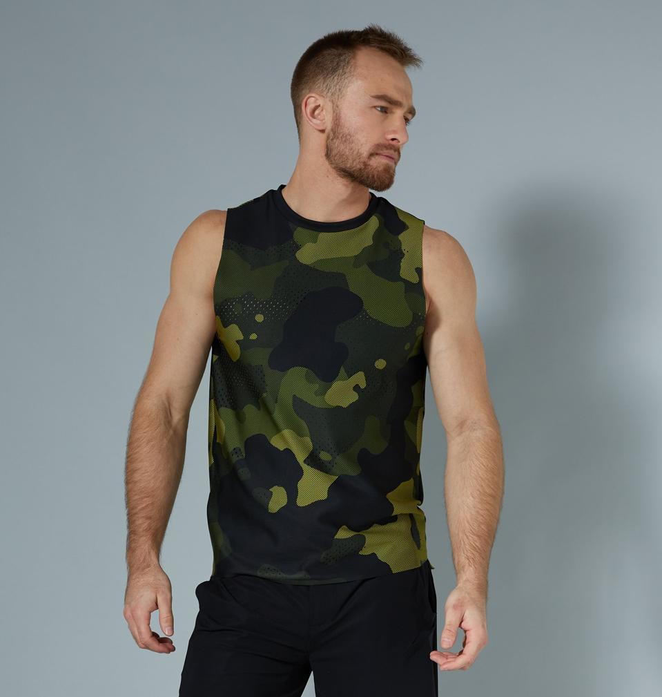 Men's Mesh Camo Pixelated Action Muscle Tee