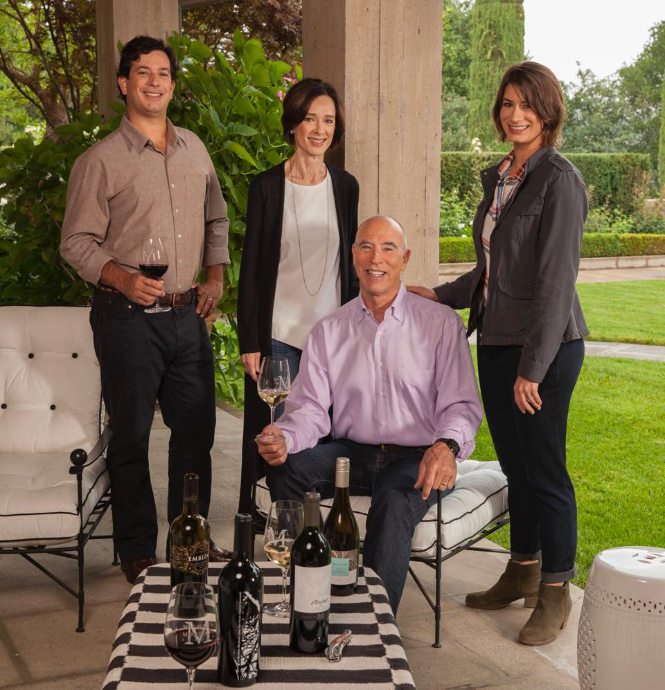 Michael Mondavi Family Portrait: Rob Jr., Isabel, Michael, and Dina Mondavi.