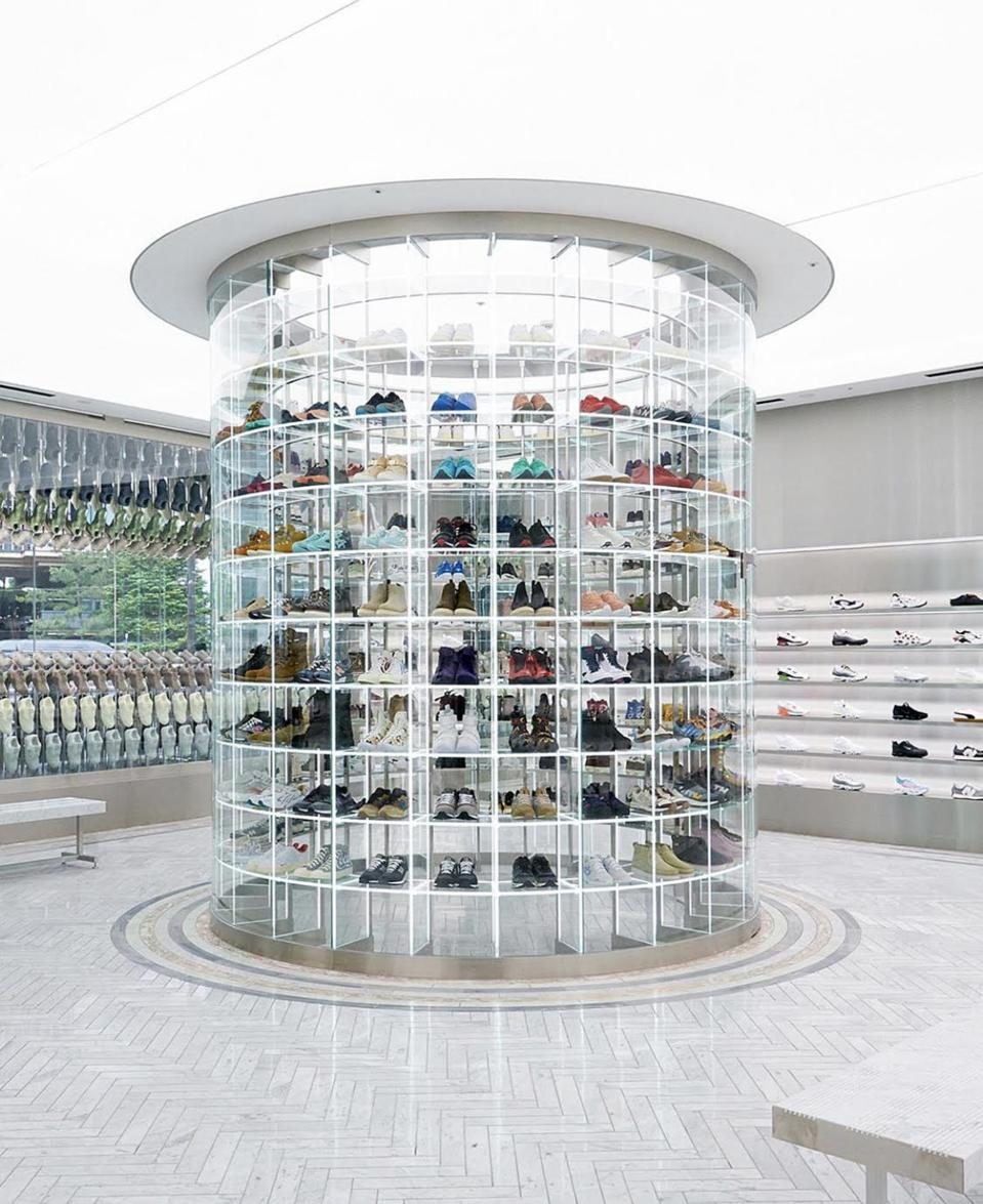 The first floor features a wide selection of multi-brand footwear.