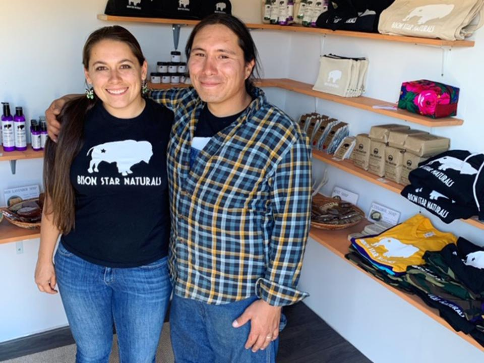 Bison Star Naturals co-founders Jacquelene and Angelo McHorse