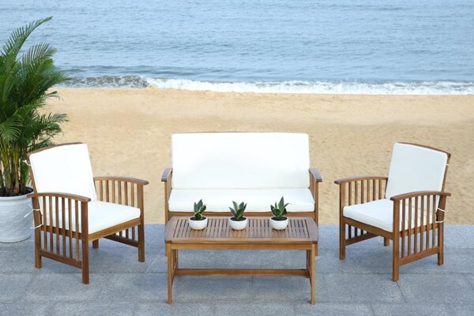 Lark Manor Alcazar 4 Piece Sofa Seating Group with Cushions