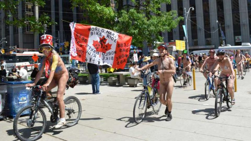 Naked bikers in Toronto