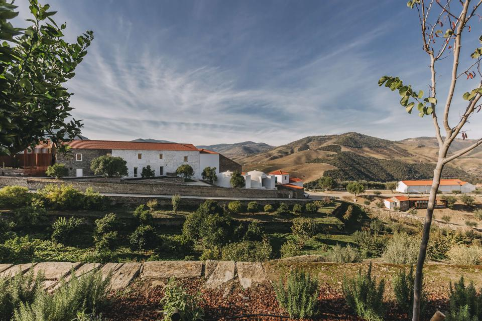 The Ventozelo hotel has a beautiful location in the Douro Valley of Portugal.