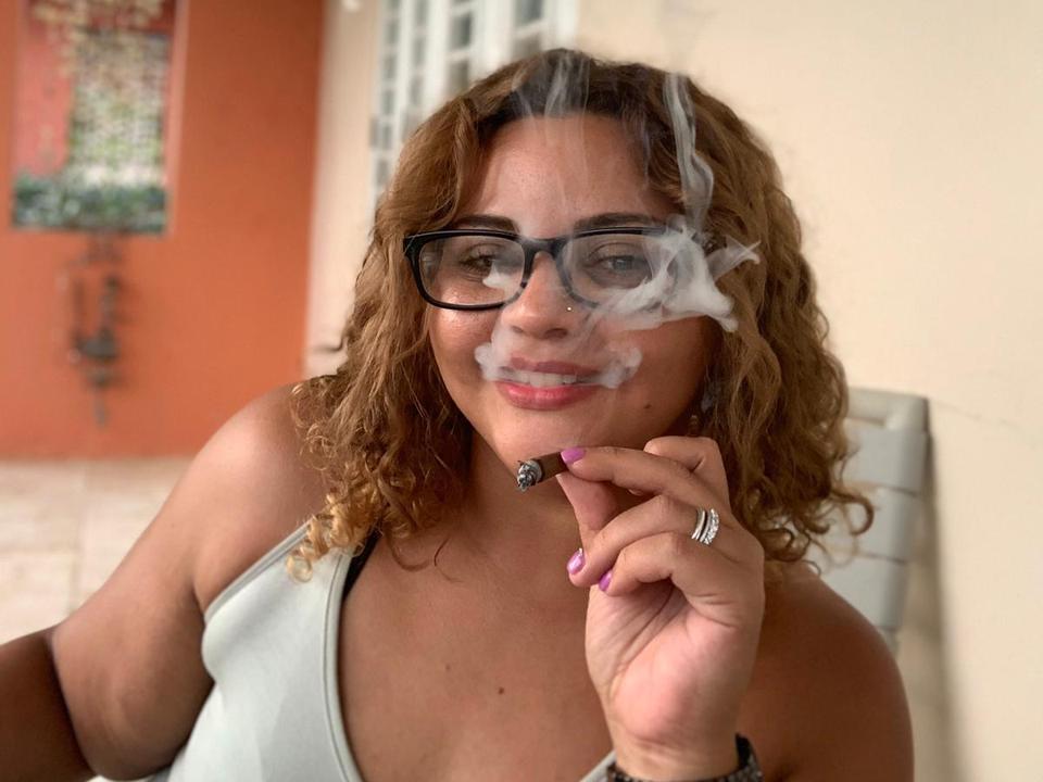 taking a smoke break